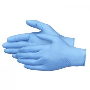 Rękawiczki jednorazowe nitrylowe niebieskie niepudrowane 100szt.