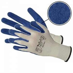 Rękawice poliestrowe powlekane lateksem RWNYL BLUE KAT.2