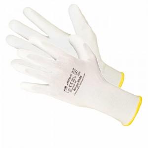 Rękawice nylonowe powlekane poliuretanem białe