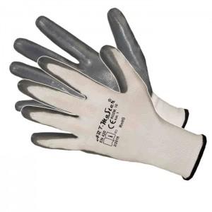 Rękawice poliestrowe powlekane szarym nitrylem