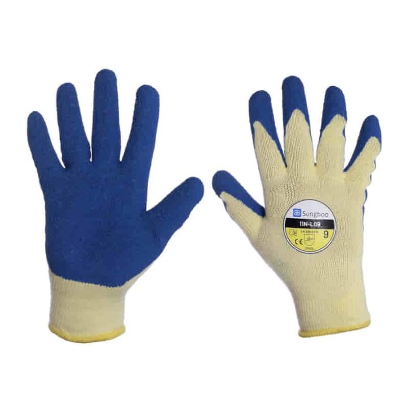 Rękawice poliestrowo-bawełniane powlekane lateksem