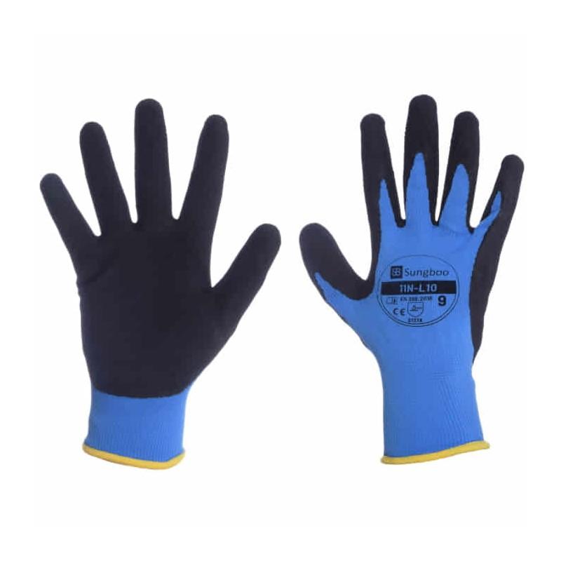 Rękawice poliestrowe powlekane spienionym lateksem