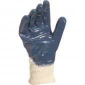 Rękawice bawełniane powlekane niebieskim nitrylem